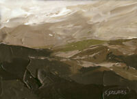 Snowdonia ORIGINAL LANDSCAPE PAINTING Welsh Mountains Steve Greaves Art Kyffin