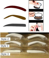 3 Styles Natural Eyebrow Shadow Definition Makeup Brow Stamp Powder Palette Set