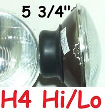 "1pr 5 3/4"" 143 mm H4 Hi/Lo Semi Sealed Headlights with provision for park light"