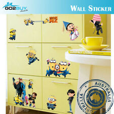 DIY Wall Stickers Removable Minion Wall Kids Room Decal Gift Cute Cartoon