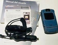 Motorola Razr V3i Phone Blue W/Accessories
