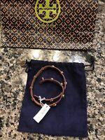 Tory Burch leather wrap bracelet Gorgeous!!! Double Wrap Logo Stud Bracelet.