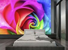 One Rose Rainbow Colours Wall Mural Photo Wallpaper GIANT WALL DECOR