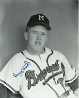Denny Lemaster Signed Autographed 1962-1965 Milwaukee Braves 8x10 Photo  COA