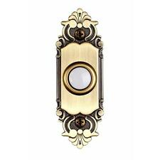 NEW Quality Hampton Bay  Brass Wired Home Doorbell Door-Bell Lighted Push-Button