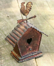 Metal Brown Rustic Cabin Chicken Heart Collectible Home Decor Vintage Model CX