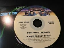 RARE CD Single  Peter Criss - Don't You Let Me Down/ Hooked On Rock n Roll  NM