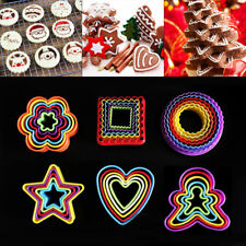 5Pcs Cookies Cutter Biscuit Fondant Cake Decorating Sugarcraft Mould Mold Tools