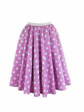Ladies Polka Dot Skirt & Scarf  Rock & Roll Fancy Dress 50'S Jive Grease Costume