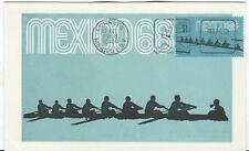 Mexico Olympische Spiele Olympic Games 1968 Maxicard Rowing