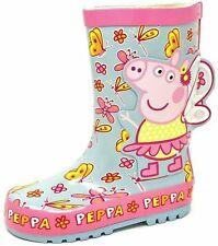 Kids Childrens Girls Peppa Pig Butterfly Wellies Snow Rain Wellington Boots