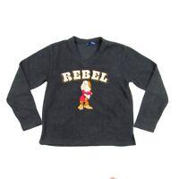 Grumpy Walt Disney World Rebel Sweatshirt Grey Men's Medium Long Sleeve Sweater