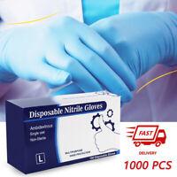 10-1000Pcs Disposable Nitrile/Latex/Vinyl Exam Dental Medical Gloves Powder Free