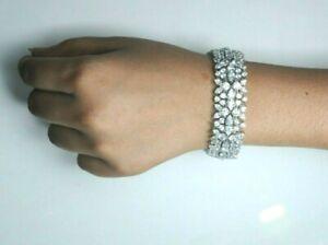 925 Solid Sterling Silver Bracelet Rose Gold Vermeil Cubic Zirconia Gemstone Bangle Green Pink Snake Cuff Bracelet