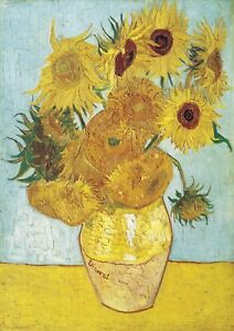 Sunflowers - Van Gogh HUGE A1 size 59.4x84cm QUALITY Decor Canvas Print Unframed