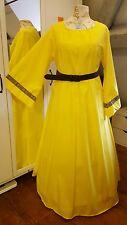 Gewand Mittelalterliches Kleid Gewand LARP Gelb Gr.46 48 50 Gothic Mittelalter