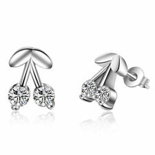 Exquisite 925 Silver Cherry Earrings E328