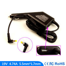 Laptop DC Adapter Car Charger USB Power for Acer TravelMate 5612 5720 6410