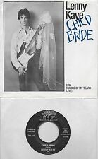 LENNY KAYE  Child Bride / Tracks Of My Tears  rare 45 with PicSleeve