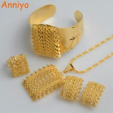 Ethiopian Gold Color sets Pendant Necklaces Earrings Bangle Ring Habesha Jewelry