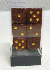 Dice - Chessex 16mm Speckled Mercury w/Yellow Pips - 12/Box - Unique Colors!