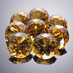 LONGWIN 8pcs 40mm Amber Crystal Diamond Paperweight Glass Ornament Wedding Decor