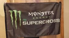 Monster Energy AMA Supercross Motorcross 3x5 Flag dirt bike motorcycle Racing MX