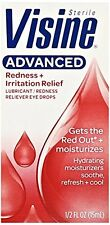 6 Pack Visine Advanced Redness + Irritation Relief Sterile Eye Drops 0.5 Oz Each