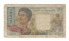 New Caledonia  - 20 Francs, 1956