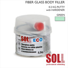 SOLL FIBREGLASS BODY FILLER PUTTY ECO 0.2KG Fibre Glass Reinforced Car Repair