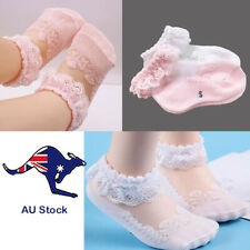 Baby Girl Princess Lace Socks 0-12 Months 2 Pairs 1x Pink 1x White