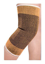 KNEE BROWN BEIGE SKIN SUPPORT ELASTIC ARTHRITIS BRACE BANDAGE SPORT WRAP PAD UK