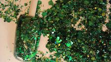 glitter mix acrylic gel nail art crafts   MISTLETOE