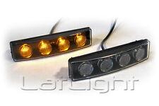 2x LED Positionsleuchten für Scania Sonnenblende Orange LKW Amber 12 24 Volt