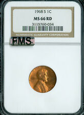 1968-S LINCOLN CENT NGC MAC MS66 RED FMS 2ND FINEST REGISTRY SPOTLESS *