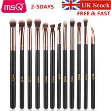 UK MSQ 12pcs Eyebrow Blending Make up Brush Angled Eyeliner Eyeshadow Brow Tool