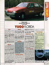 Coupure de Presse Clipping 1990 (1 page) Yugo Florida
