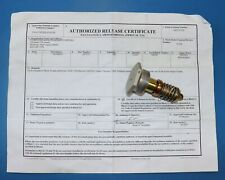 Continental IO520 Vernatherm Oil Cooler Valve, PN 627412, VD21038  w/ paperwork