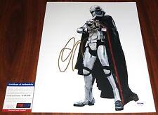 Gwendoline Christie Signed 11x14 Star Wars The Force Awakens Capt Phasma PSA/DNA