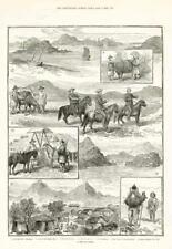 1886 antica stampa-Corea Seoul PORTA Hamilton di chemulpo Nativi Bullocks (117)