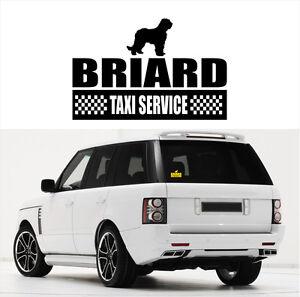 AYC Auto Aufkleber BRIARD Taxi Service Hund Hunde Hundeaufkleber fun Siviwonder