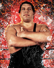ANDRE THE GIANT #1 (WWE) - 10X8 PRE PRINTED LAB QUALITY PHOTO (SIGNED) (REPRINT)