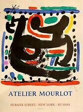 hand signed Miro 1967 lithograph with authentication; Picasso, Chagall, Dali era