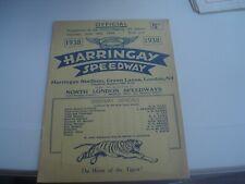 More details for vintage  harringay v west ham 18-6-1938      speedway programme