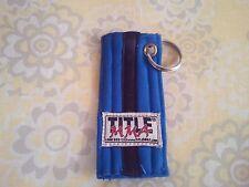 Martial Arts Rank Belt Keyring Bjj, Taekwondo, Karate, Mma Blue Belt