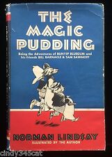 Magic Pudding Bunyip Bluegum Bill Barnacle Sam Sawnoff Norman Lindsay HC DJ 1948
