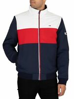 Tommy Jeans Men's Colourblock Padded Jacket, Blue