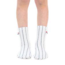 Calze e calzini da uomo bianche a fantasia righe in misto cotone