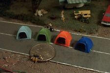 4 DOME CAMPING TENTS N Scale