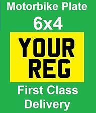 small bike number plate 6x4 motorbike motor cycle show plate motor bike Yellow.